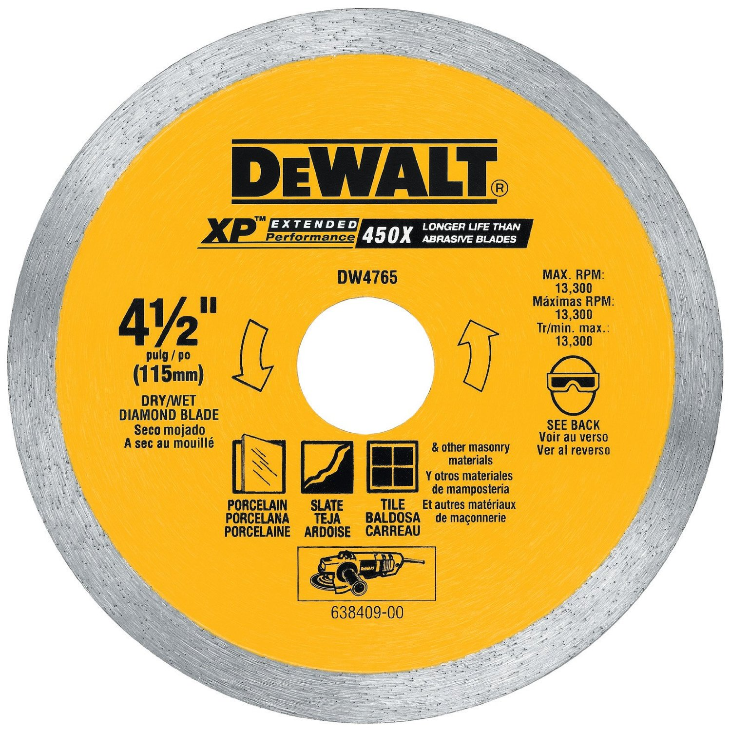 Tile saw the tile home guide tile saw blades do not have sharp teeth that rip and tear in order to cut through the material instead they actually grind through the tile greentooth Images