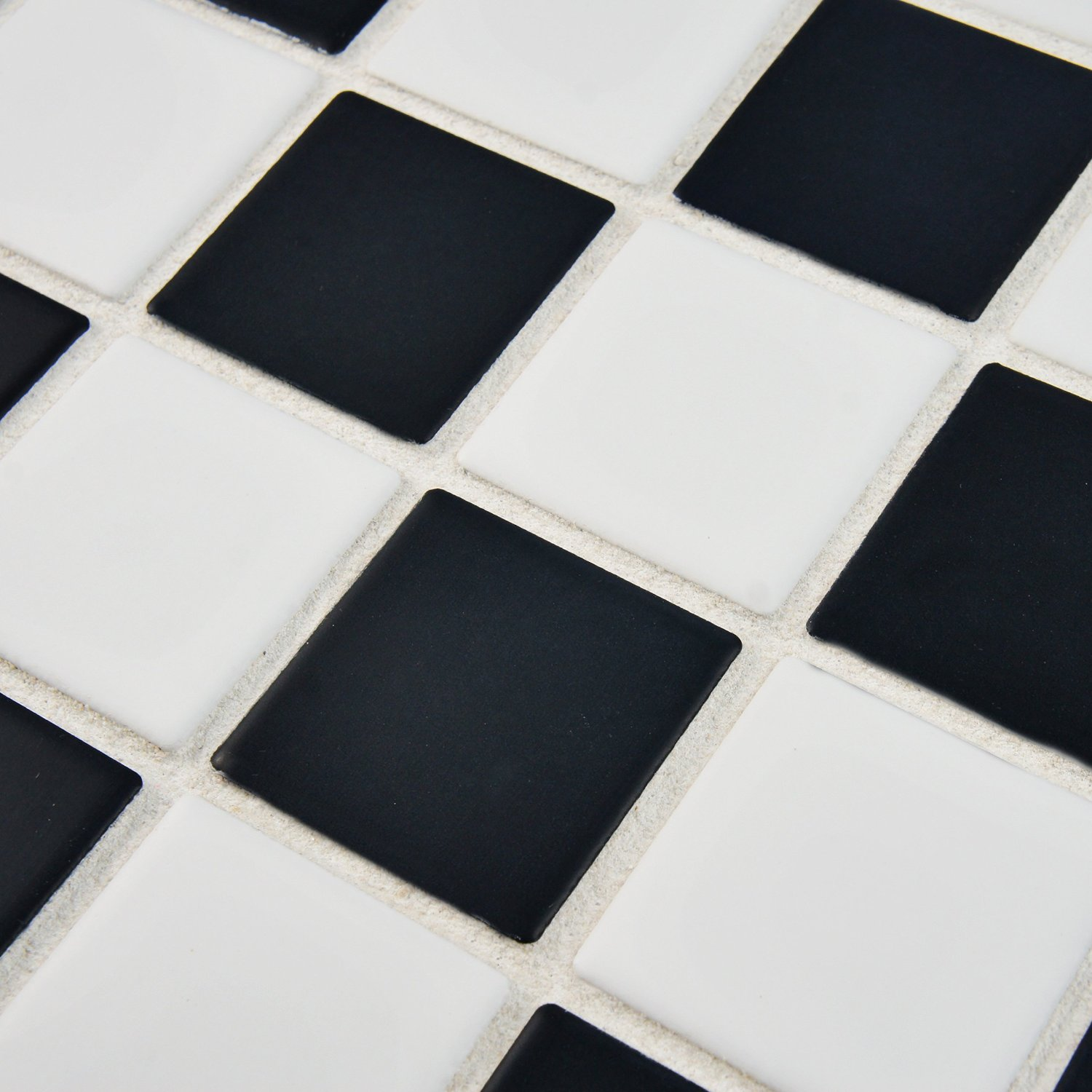 Black floor and wall tiles