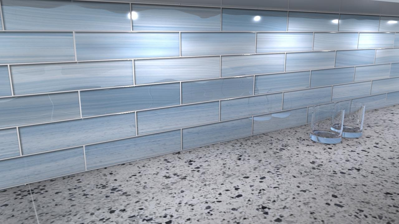 Some are solid colors but more often glass subway tile is translucent with  a white backing. This bright white backing makes them stand out with an  almost ...