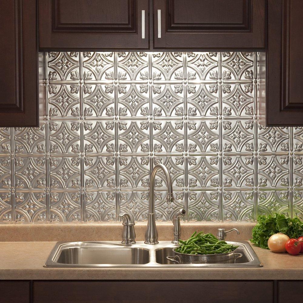 metal tiles the tile home guide rh tilehomeguide com Chef Mural Tile Backsplash Metal and Glass Tile Backsplash